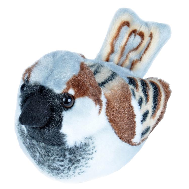 Huismus / House Sparrow – Pluche vogel met geluid
